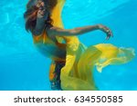 Underwater Shoot Of A Relaxed ...
