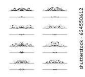 calligraphic frame set  ... | Shutterstock .eps vector #634550612