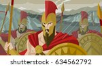 epic spartans soldiers... | Shutterstock .eps vector #634562792