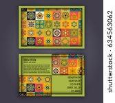 vector business card design... | Shutterstock .eps vector #634563062