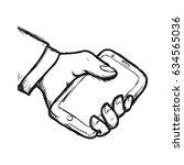 mobile smartphone technology | Shutterstock .eps vector #634565036