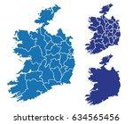 map of ireland | Shutterstock .eps vector #634565456
