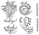 thank you  vector illustration... | Shutterstock .eps vector #634565576