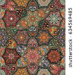 colorful vintage seamless... | Shutterstock .eps vector #634569485