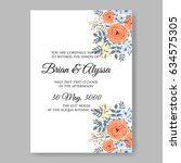 Wedding Floral Invitation...