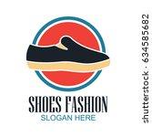shoes store  shoes shop logo... | Shutterstock .eps vector #634585682