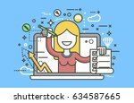 stock vector illustration woman ... | Shutterstock .eps vector #634587665
