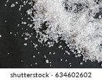 white crystals sea salt...   Shutterstock . vector #634602602