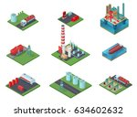 isometric oil industry set with ... | Shutterstock .eps vector #634602632