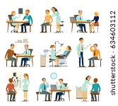 medical examination collection... | Shutterstock .eps vector #634603112