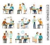 medical examination collection... | Shutterstock .eps vector #634603112