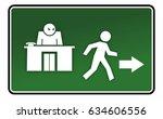 abstract figure runs away from...   Shutterstock . vector #634606556