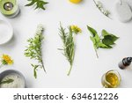 organic spa. natural herbal...   Shutterstock . vector #634612226
