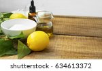 natural spa skincare with... | Shutterstock . vector #634613372