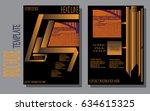 design a brochure template ... | Shutterstock .eps vector #634615325