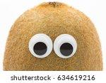 Kiwi Face With Googly Eyes On...