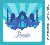ramadan. ramadan kareem design... | Shutterstock .eps vector #634627052