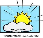sun with cloud | Shutterstock .eps vector #634632782