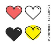 heart icon vector. love symbol. ...