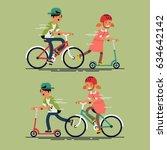 cool vector flat character... | Shutterstock .eps vector #634642142