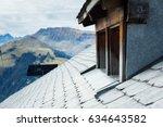 alipne hut's roof | Shutterstock . vector #634643582