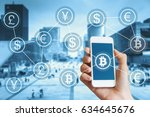 bitcoin cryptocurrency and... | Shutterstock . vector #634645676
