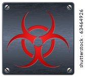 vector biohazard sign on dark... | Shutterstock .eps vector #63464926