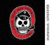 skull captain badge logo design ...   Shutterstock .eps vector #634653458