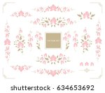 set of floral design elements.... | Shutterstock .eps vector #634653692