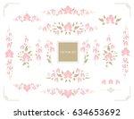 set of floral design elements....   Shutterstock .eps vector #634653692