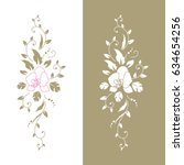 set of floral design elements.... | Shutterstock .eps vector #634654256