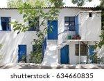 greece  samothrace  old house... | Shutterstock . vector #634660835