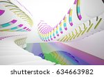 white smooth abstract... | Shutterstock . vector #634663982