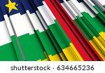 fragment flag of central... | Shutterstock . vector #634665236