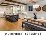 kitchen and dining room in new... | Shutterstock . vector #634668485