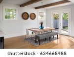 dining room in beautiful luxury ... | Shutterstock . vector #634668488