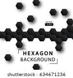 abstract hexagon vector... | Shutterstock .eps vector #634671236