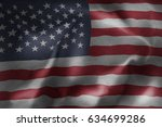 realistic flag of united states ... | Shutterstock . vector #634699286