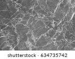 grey marble texture shot... | Shutterstock . vector #634735742