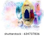 ramadan kareem greeting  ... | Shutterstock . vector #634737836