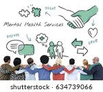 mental health care sketch... | Shutterstock . vector #634739066