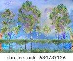 Five Birches Near The Lake