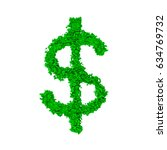 the us dollar sign made with... | Shutterstock . vector #634769732