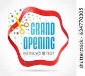 grand opening invitation card.... | Shutterstock .eps vector #634770305