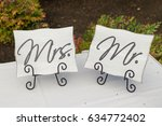 wedding reception sign decor   Shutterstock . vector #634772402