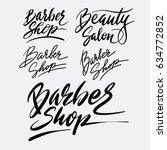barber shop hand written... | Shutterstock .eps vector #634772852
