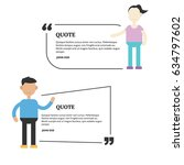 quotation mark speech bubble... | Shutterstock .eps vector #634797602