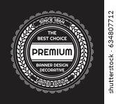 vintage background label style... | Shutterstock .eps vector #634807712