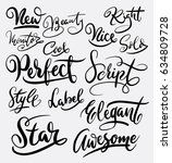 star and perfect hand written... | Shutterstock .eps vector #634809728