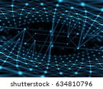 cyber virtual space technology... | Shutterstock . vector #634810796
